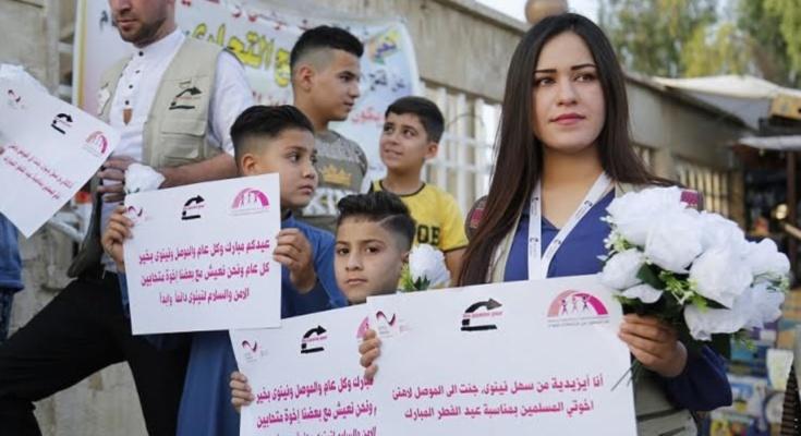 Bildergebnis für مسيحيّون وإيزيديون وكاكائيون وشبك يفاجئون المسلمين في الموصل بمناسبة عيد الفطر المبارك